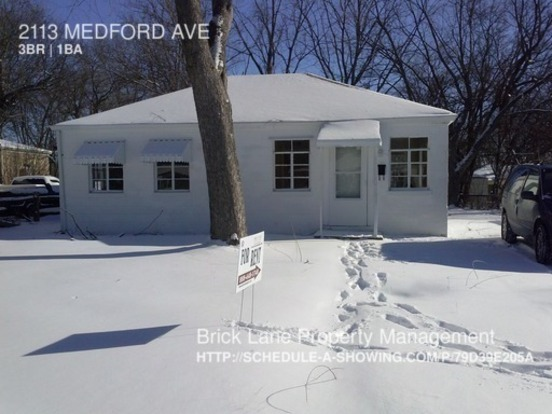 3 Bedrooms 1 Bathroom House for rent at 2113 Medford Ave in Indianapolis, IN