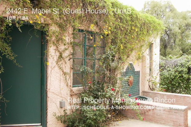 1 Bedroom 1 Bathroom House for rent at 2442 E. Mabel St. (guest House) in Tucson, AZ