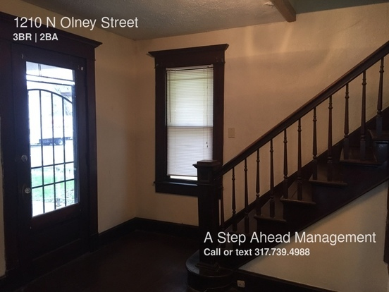 3 Bedrooms 1 Bathroom House for rent at 1210 N Olney Street in Indianapolis, IN