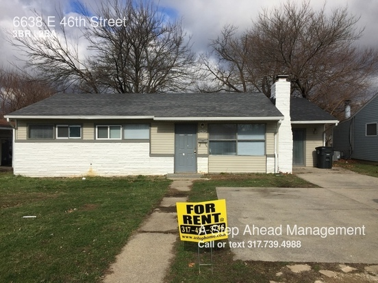 3 Bedrooms 1 Bathroom House for rent at 6638 E 46th Street in Indianapolis, IN