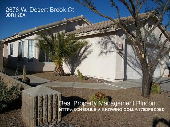 3 Bedrooms 2 Bathrooms House for rent at 2676 W. Desert Brook Ct in Tucson, AZ