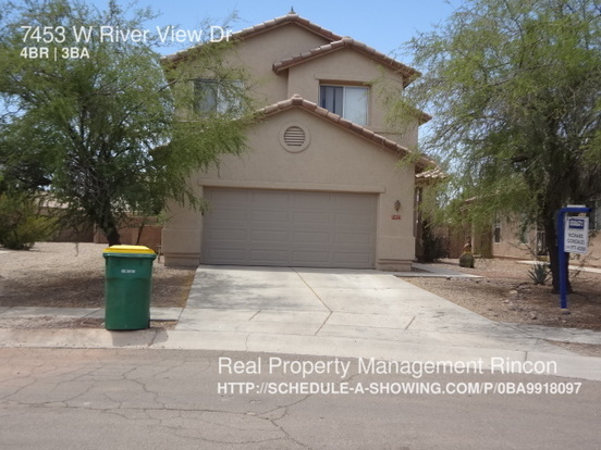 4 Bedrooms 2 Bathrooms House for rent at 7453 W River View Dr in Tucson, AZ