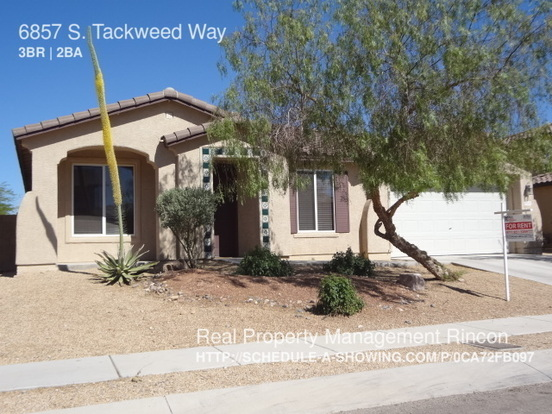 3 Bedrooms 2 Bathrooms House for rent at 6857 S. Tackweed Way in Tucson, AZ