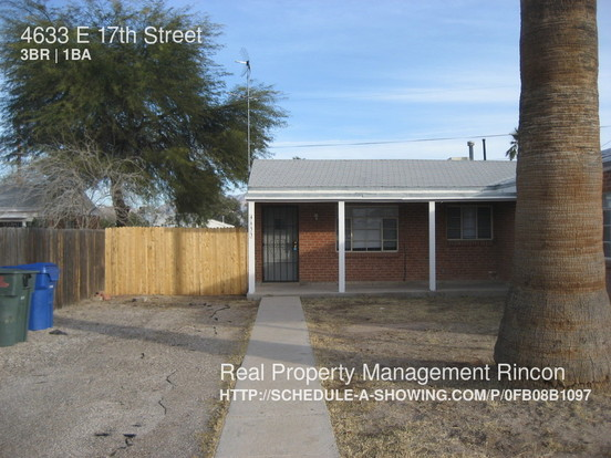 3 Bedrooms 1 Bathroom House for rent at 4633 E 17th Street in Tucson, AZ