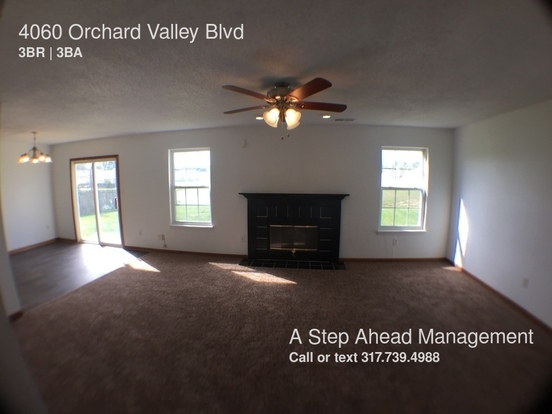 3 Bedrooms 2 Bathrooms House for rent at 4060 Orchard Valley Blvd in Indianapolis, IN