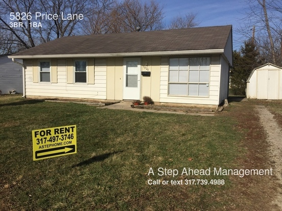 3 Bedrooms 1 Bathroom House for rent at 5826 Price Lane in Indianapolis, IN