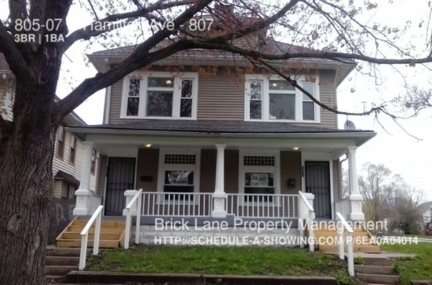 3 Bedrooms 1 Bathroom House for rent at 805 07 N Hamilton Ave in Indianapolis, IN