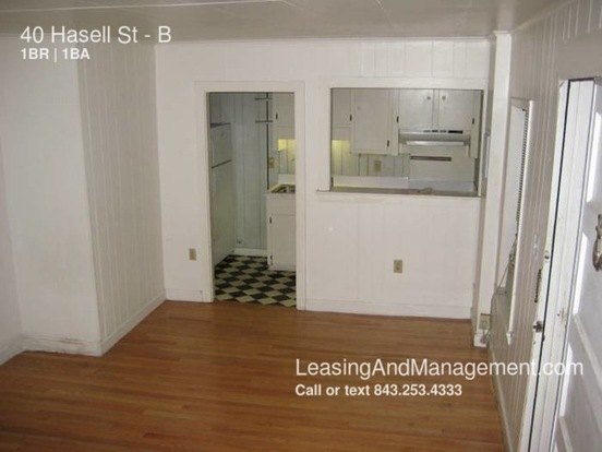 1 Bedroom 1 Bathroom House for rent at 40 Hasell St in Charleston, SC