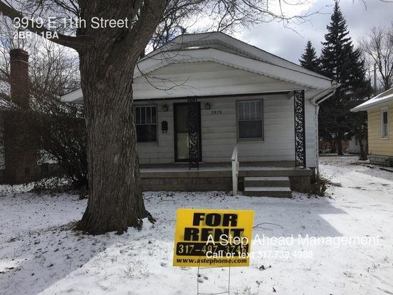 2 Bedrooms 1 Bathroom House for rent at 3919 E 11th Street in Indianapolis, IN
