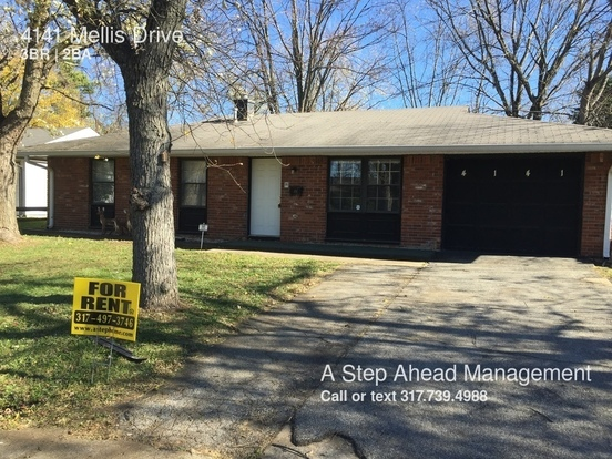 3 Bedrooms 1 Bathroom House for rent at 4141 Mellis Drive in Indianapolis, IN