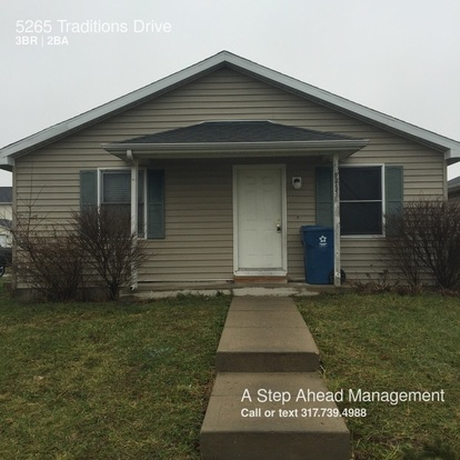 3 Bedrooms 2 Bathrooms House for rent at 5265 Traditions Drive in Indianapolis, IN
