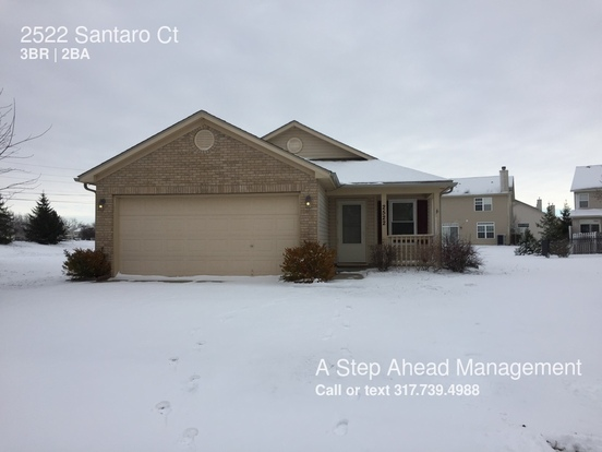 3 Bedrooms 2 Bathrooms House for rent at 2522 Santaro Ct in Indianapolis, IN