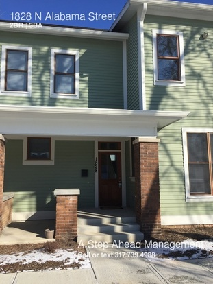 2 Bedrooms 2 Bathrooms House for rent at 1828 N Alabama Street in Indianapolis, IN