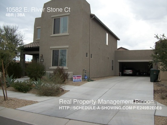 4 Bedrooms 3 Bathrooms House for rent at 10582 E. River Stone Ct in Tucson, AZ