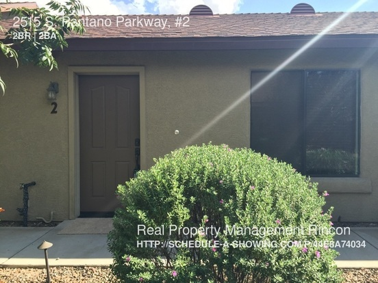 2 Bedrooms 2 Bathrooms House for rent at 2515 S. Pantano Parkway, in Tucson, AZ