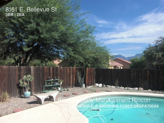 3 Bedrooms 2 Bathrooms House for rent at 8161 E. Bellevue St in Tucson, AZ