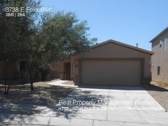3 Bedrooms 2 Bathrooms House for rent at 3738 E Felix Blvd in Tucson, AZ