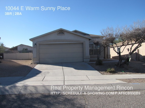 3 Bedrooms 2 Bathrooms House for rent at 10044 E Warm Sunny Place in Tucson, AZ