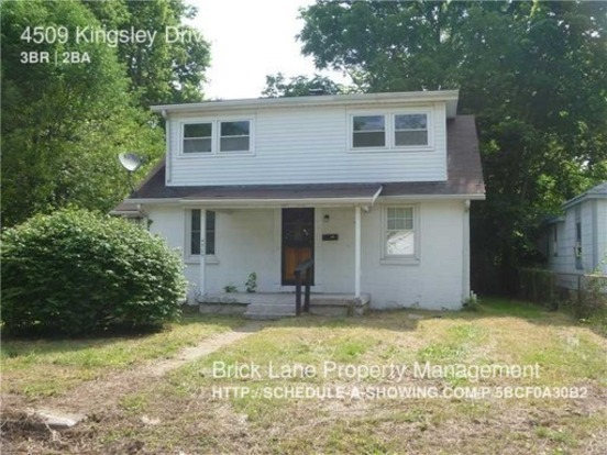 3 Bedrooms 2 Bathrooms House for rent at 4509 Kingsley Drive in Indianapolis, IN