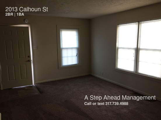 2 Bedrooms 1 Bathroom House for rent at 2013 Calhoun St in Indianapolis, IN