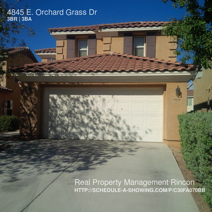 3 Bedrooms 2 Bathrooms House for rent at 4845 E. Orchard Grass Dr in Tucson, AZ