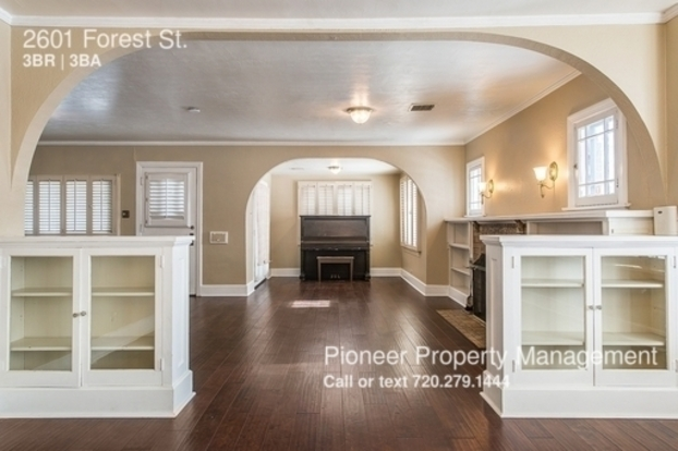 3 Bedrooms 3 Bathrooms House for rent at 2601 Forest St. in Denver, CO