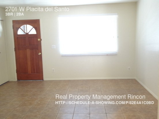 3 Bedrooms 2 Bathrooms House for rent at 2701 W Placita Del Santo in Tucson, AZ