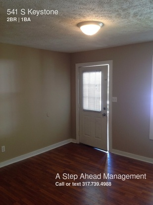 2 Bedrooms 1 Bathroom House for rent at 541 S Keystone in Indianapolis, IN