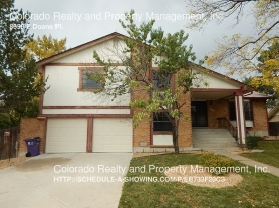 4 Bedrooms 3 Bathrooms House for rent at 8659 E Doane Pl. in Denver, CO