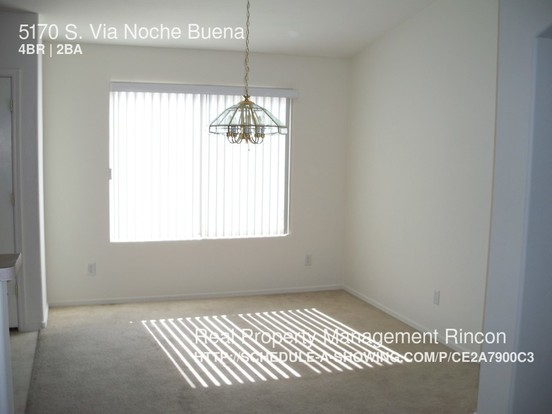 4 Bedrooms 2 Bathrooms House for rent at 5170 S. Via Noche Buena in Tucson, AZ