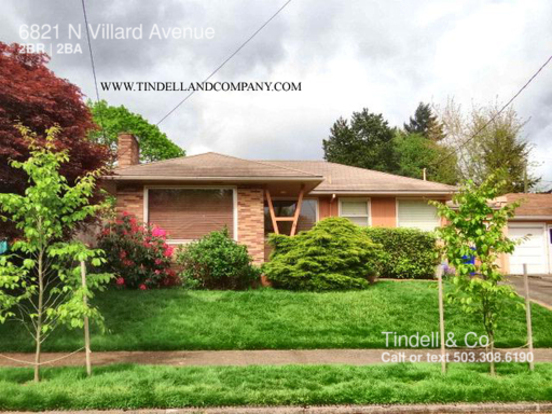 2 Bedrooms 2 Bathrooms House for rent at 6821 N Villard Avenue in Portland, OR
