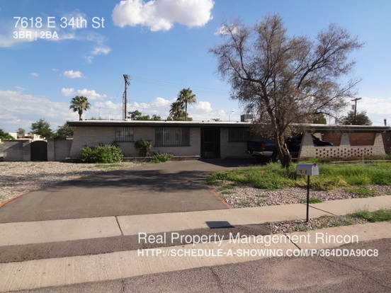 3 Bedrooms 2 Bathrooms House for rent at 7618 E 34th St in Tucson, AZ