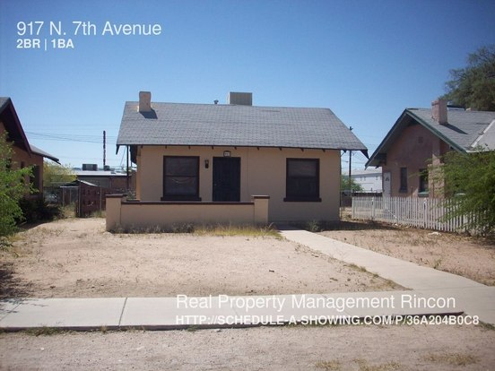2 Bedrooms 1 Bathroom House for rent at 917 N. 7th Avenue in Tucson, AZ