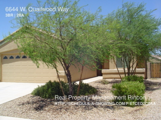 3 Bedrooms 2 Bathrooms House for rent at 6644 W. Quailwood Way in Tucson, AZ