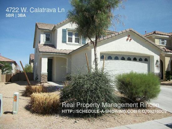 5 Bedrooms 3 Bathrooms House for rent at 4722 W. Calatrava Ln in Tucson, AZ