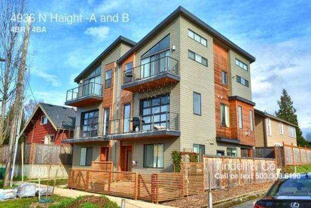 4 Bedrooms 3 Bathrooms House for rent at 4936 N Haight A And B in Portland, OR