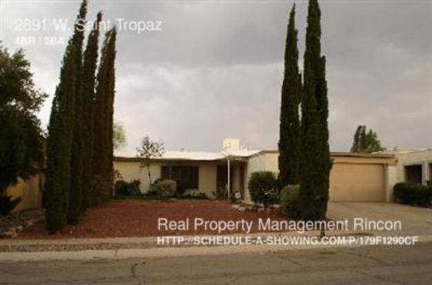 4 Bedrooms 2 Bathrooms House for rent at 2891 W. Saint Tropaz in Tucson, AZ