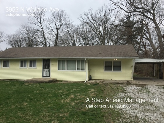 3 Bedrooms 1 Bathroom House for rent at 3952 N Wallace Ave in Indianapolis, IN