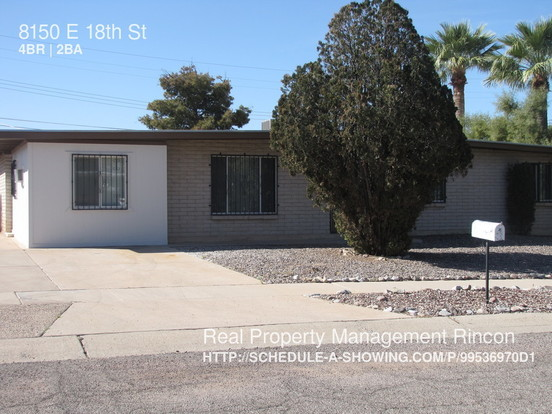 4 Bedrooms 2 Bathrooms House for rent at 8150 E 18th St in Tucson, AZ