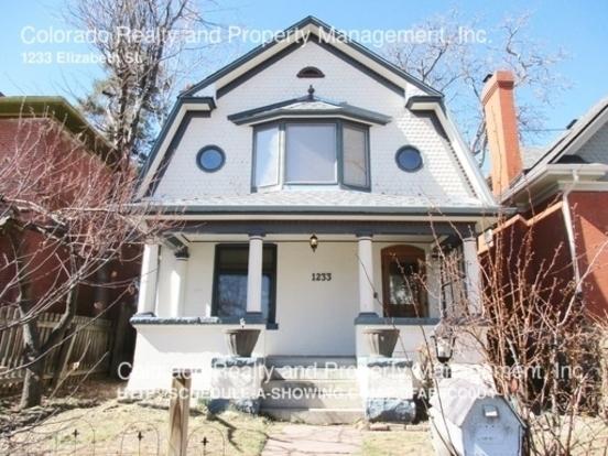 3 Bedrooms 2 Bathrooms House for rent at 1233 Elizabeth St. in Denver, CO