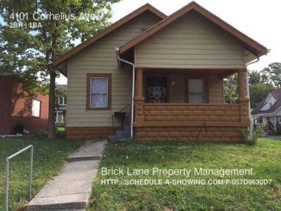 2 Bedrooms 1 Bathroom House for rent at 4101 Cornelius in Indianapolis, IN