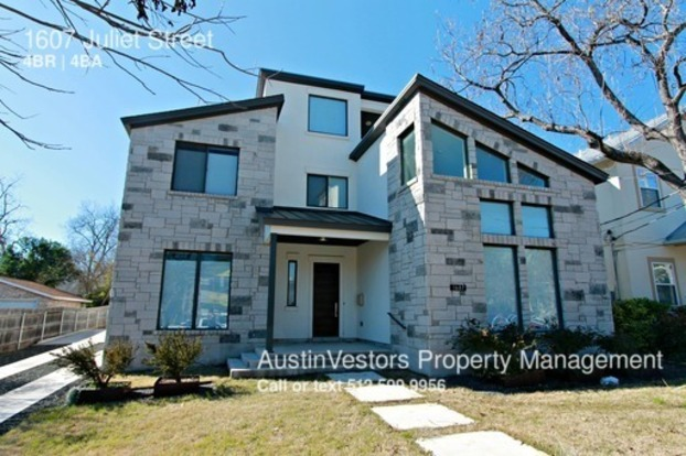 4 Bedrooms 3 Bathrooms House for rent at 1607 Juliet Street in Austin, TX
