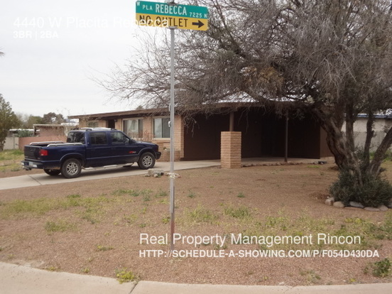 3 Bedrooms 2 Bathrooms House for rent at 4440 W Placita Rebecca in Tucson, AZ