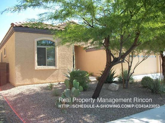 3 Bedrooms 2 Bathrooms House for rent at 7866 E. New Leaf Pl in Tucson, AZ