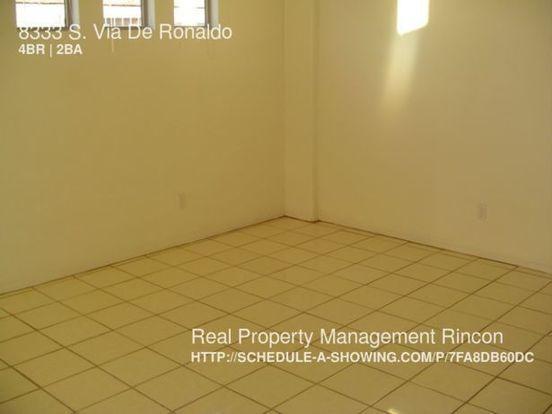 4 Bedrooms 2 Bathrooms House for rent at 8333 S. Via De Ronaldo in Tucson, AZ