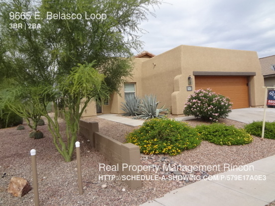 3 Bedrooms 2 Bathrooms House for rent at 9665 E. Belasco Loop in Tucson, AZ