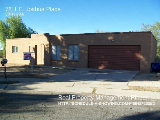 3 Bedrooms 2 Bathrooms House for rent at 7811 E. Joshua Place in Tucson, AZ