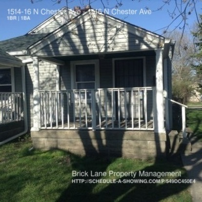 1 Bedroom 1 Bathroom House for rent at 1514 16 N Chester Ave in Indianapolis, IN