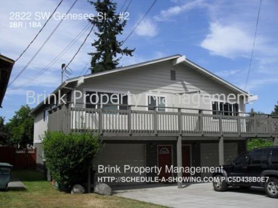 2 Bedrooms 1 Bathroom House for rent at 2822 Sw Genesee St. in Seattle, WA