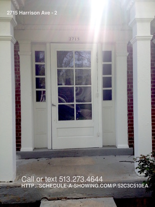 2 Bedrooms 1 Bathroom House for rent at 2715 Harrison Ave in Cincinnati, OH
